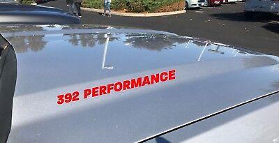 392 Performance Hood Decal Dodge Challenger Charger HEMI Scat Pack V8 SRT Red