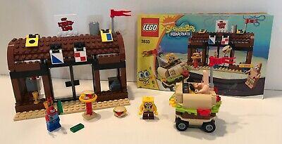 Lego Spongebob Krusty Krab 3833 - Complete with mini-figs & book