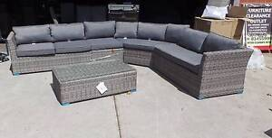 LARGE CORNER MODULAR OUTDOOR SETTING WITH COFFEE TABLE Thebarton West Torrens Area Preview