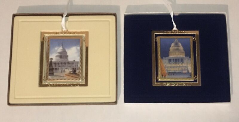 2008 and 2009 Official United States Congressional Holiday Ornaments Capitol