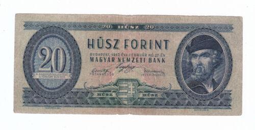 Hungary 20 Forint 1947 aVF