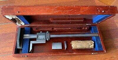 Brown Sharpe Model 586 Height Gauge 14 With Case And Johansson Spacers