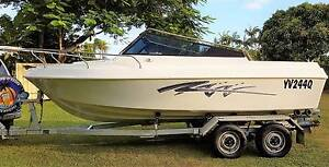 19FT BARRACUDA SPORT BOAT, TRAILER FULLY RECOND, RECOND ENGINE Ningi Caboolture Area Preview