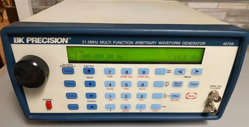 BK Precision 4070A 21.5MHz Multi Function Arbitrary Waveform Generator - WORKING