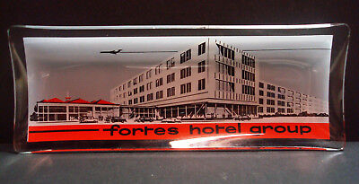 Forte S Hotel Group   London Airport   Rectangular Glass Trinket Tray   Vintage