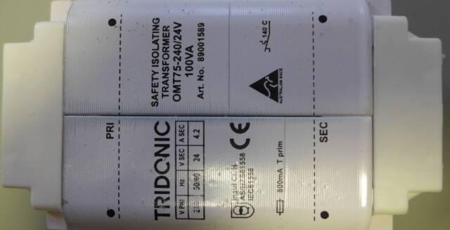 Tridonic Atco Omt75 240 24v Safety Isolation Transformer