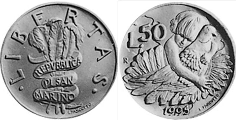 San Marino 1995 50 Lire (KM327)