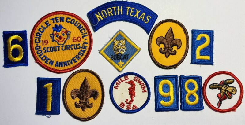 Boy Scout Patch Mixed Boys Vintage Patches BSA Troop Collectible Nice Lot 12