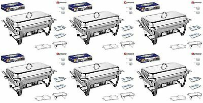Set Of 6, Single Compartment 9.5L Chafing/Buffet/Party Dishes or Food Warmer Single Compartment Dish