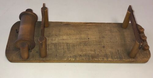 Antique 1908 Wood Patent Model Prototype Engineering Collectors Estate 12""