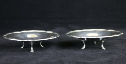 Set of 2 Plata Fina 900 CHILE Solid Sterling Silver Footed Dishes , 157 Grams