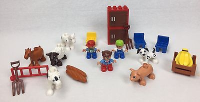 LOT Lego DUPLO Zoo Figures – Animals Goat Pig Cow Horse Sheep Dog Food +++