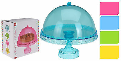 Candy Colours Plastic Cake Stand Acrylic Dome Cup Cake Stand Cake Decorating  sc 1 st  eBay & Candy Colours Plastic Cake Stand Acrylic Dome Cup Cake Stand Cake ...