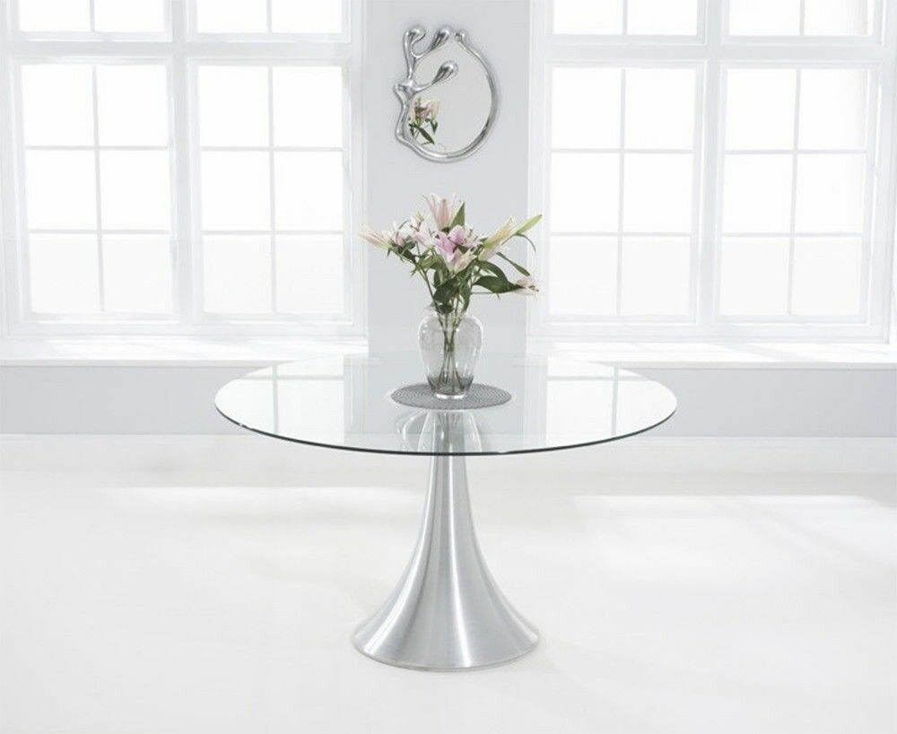 Designer Round Glass Dining Table