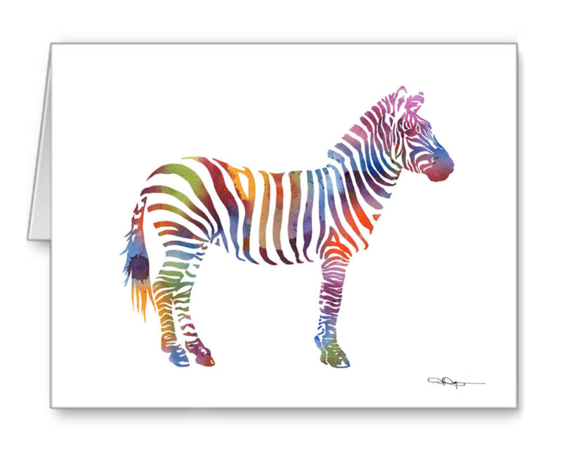 Zebra Note Cards With Envelopes