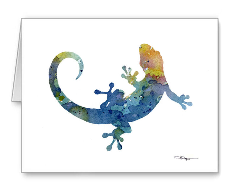 BLUE GECKO Note Cards With Envelopes