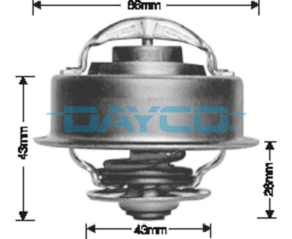 Dayco Thermostat for Jeep Cherokee KJ 2.5L Diesel ENJ 2001-2003