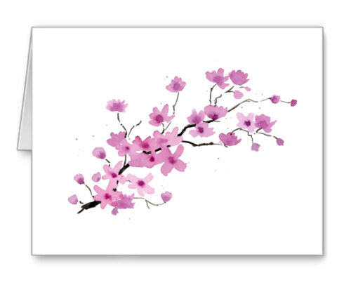 CHERRY BLOSSOMS Note Cards With Envelopes
