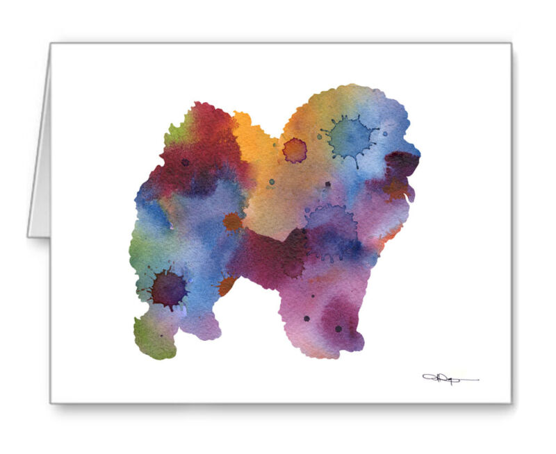 CHOW CHOW Note Cards With Envelopes