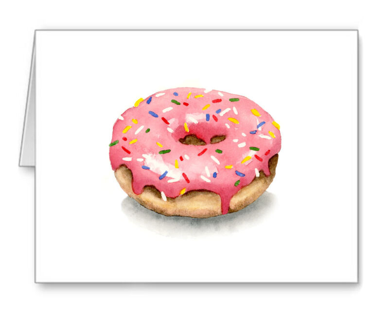 Donut Note Cards With Envelopes
