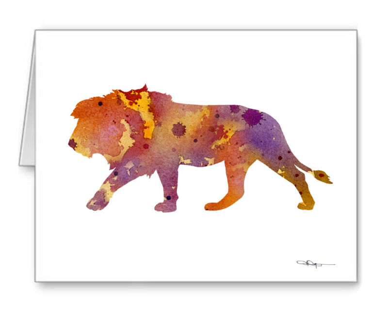Lion Note Cards With Envelopes