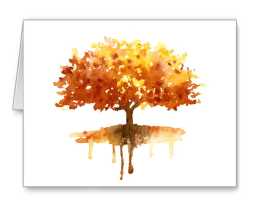 Fall Colors - Autumn Note Cards With Envelopes