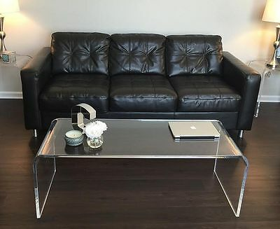 "Acrylic Coffee Table 50"" long x 20 x 17 high x 3/4 thick"