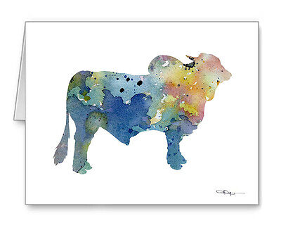 BLUE BRAHMA BULL Note Cards With Envelopes