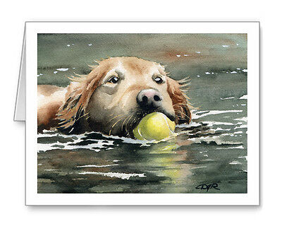 GOLDEN RETRIEVER Set of 10 Note Cards With Envelopes