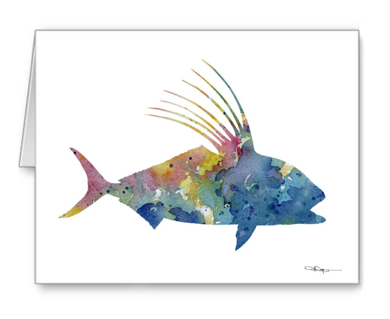ROOSTER FISH Note Cards With Envelopes