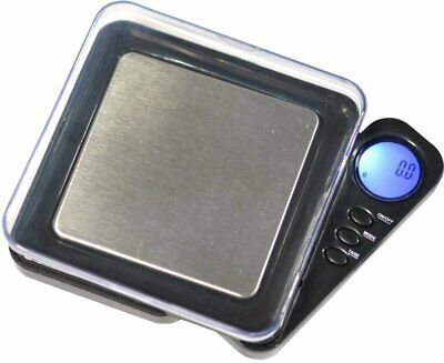 Pocket Digital Scale 100g X 0.01g With Calibration Weight Tray Gems Gold Herbs