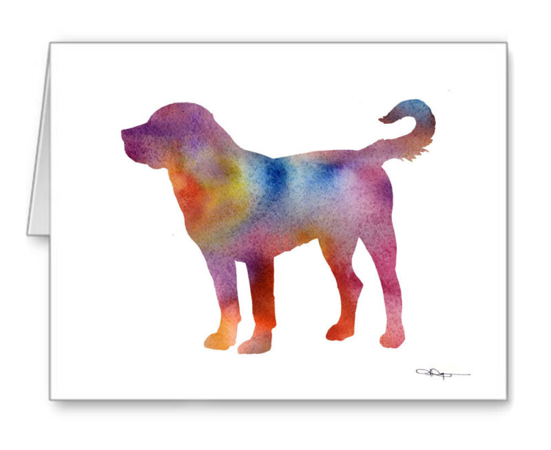 GREATER SWISS MOUNTAIN DOG note cards by watercolor artist DJ Roger