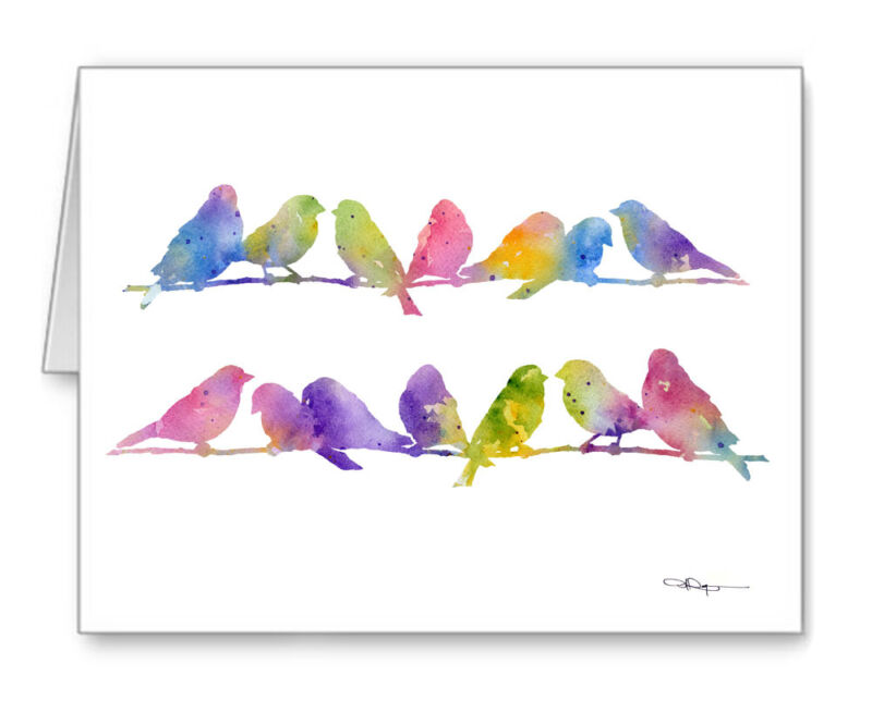 Finches Note Cards With Envelopes