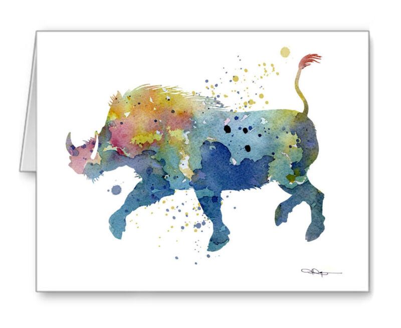 WARTHOG Note Cards With Envelopes
