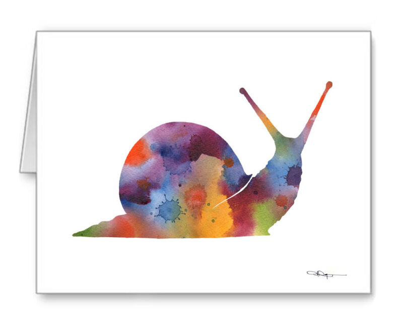 Snail Note Cards With Envelopes