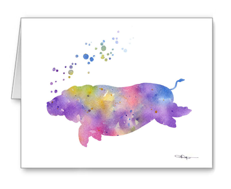 HIPPO Note Cards With Envelopes