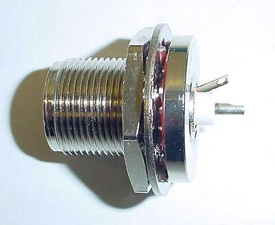 Amphenol 34450 Triax Receptacle Bulkhead 50ohm Wgrd Tab Microwave Straight Jack