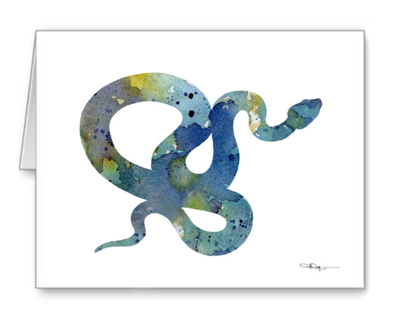 Snake Note Cards With Envelopes