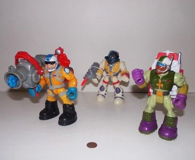 Lot of Vintage Rescue Heroes Figures with Tools - Astronaut, Canyon, Specialist