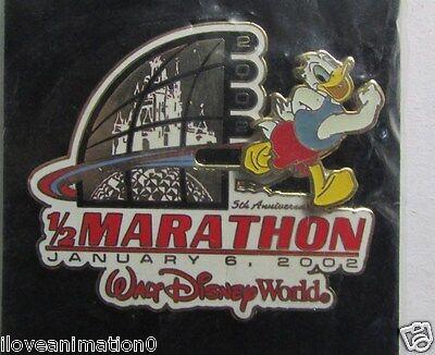 Disney WDW Half Marathon Slider Donald Duck Pin **