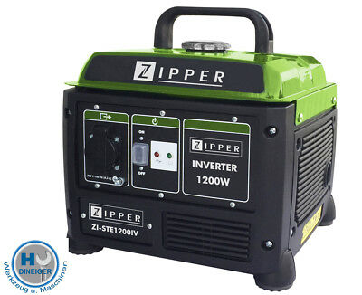 Zipper INVERTER Stromerzeuger ZI STE1200 IV Stromaggregat Notstromaggregat Strom