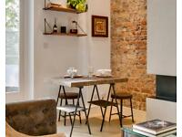 IKEA Sinnerlig custom sized Dining table with 3x stools