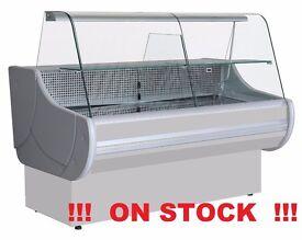 NEW £1347 incl VAT 200cm(6.6 feet) Serve Over Counter Display Fridge WCH1-E2 grey