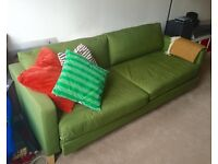Karlstad 3 seater Sofa - 2 person Bed - Green colour - great condition
