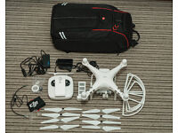 DJI Phantom 3 Advanced. 2.7k drone, with Manfrotto backpack, spare battery and more