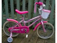 Sparkle & Glitz 16'' Kids' Bike with Stabilisers