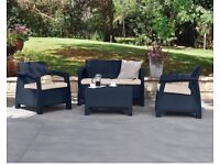 Sleek and sophisticated garden furniture with a rattan