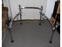 Roland V Drums MDS-25 chrome drum rack integral crystal cables PRO stand frame