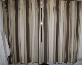 Lovely neutral pencil pleat curtains