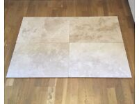 Large Floor Tiles Cream marble effect